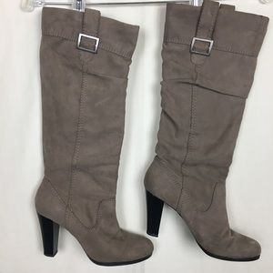 Zara Suede Slouch High Heeled Boots